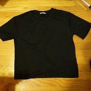 Zara black jersey tee (S)